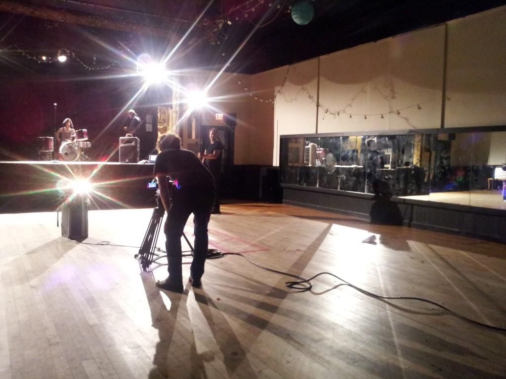 Marcel concert Steve behind camera